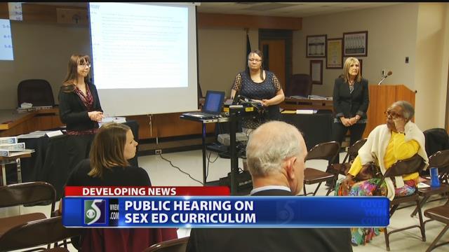 Public hearing on sex ed curriculum