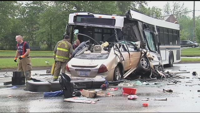 VIDEO: Speeding car smashes into city bus