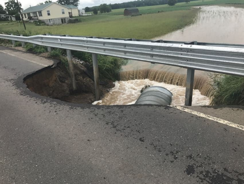 Blanchard Road in Isabella County (Source: WNEM)