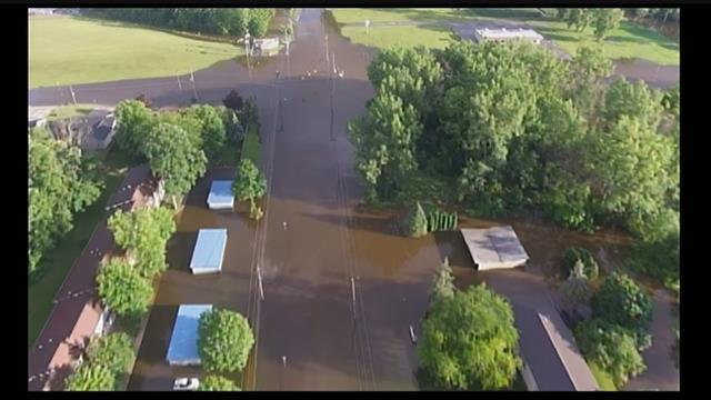 VIDEO: Drone footage shows flooding in Saginaw