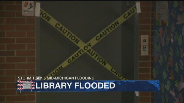 Midland library dealing with flood aftermath