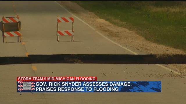 Gov. Rick Snyder assesses damage, praises response to flooding