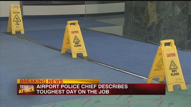 Airport police chief describes toughest day on the job