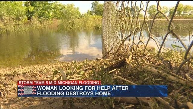 Woman's home ruined from historic flood