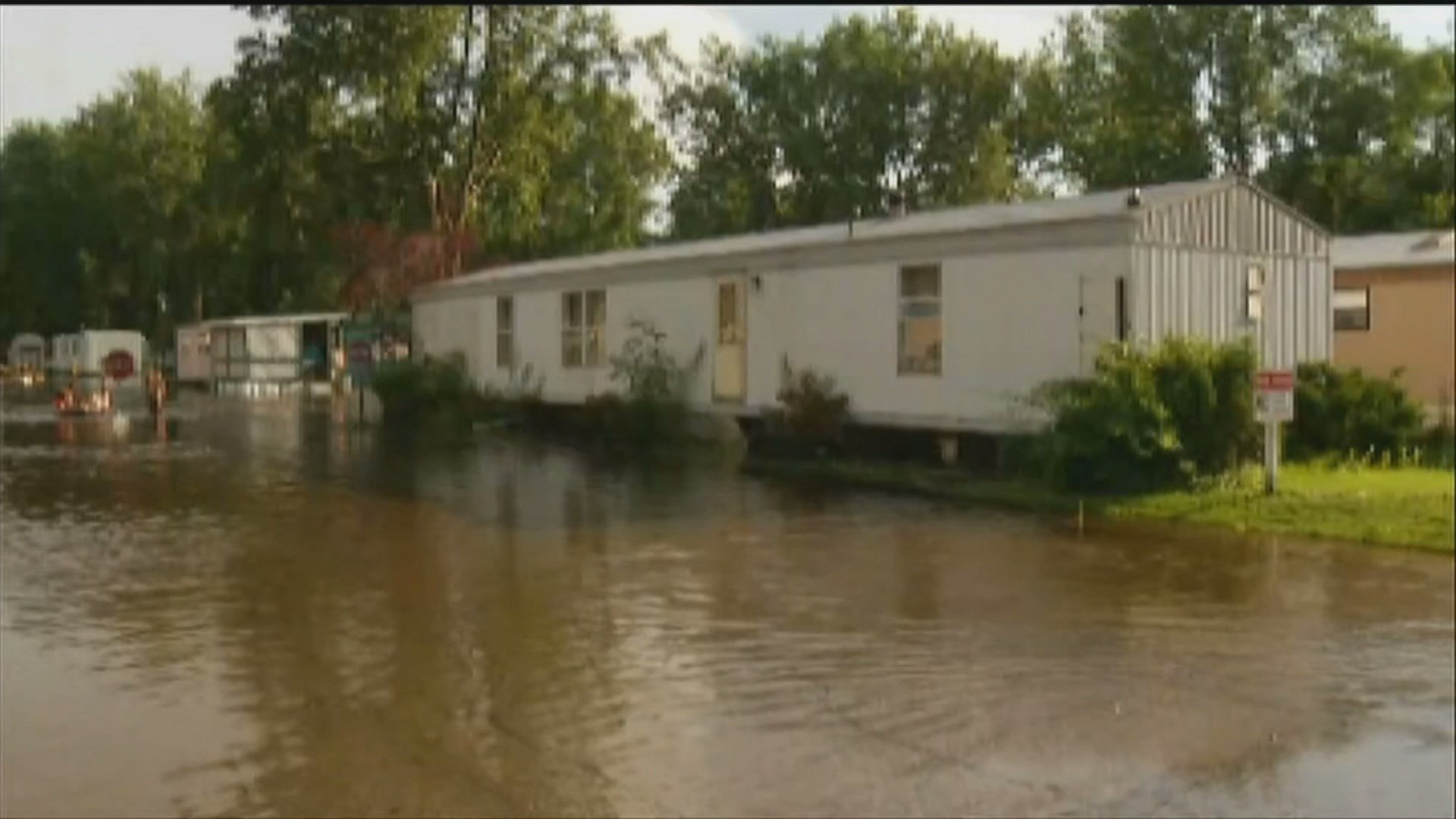 This June 2017 photo shows flooding at the Brentwood Estate Mobile Home Park. (Source: WNEM)