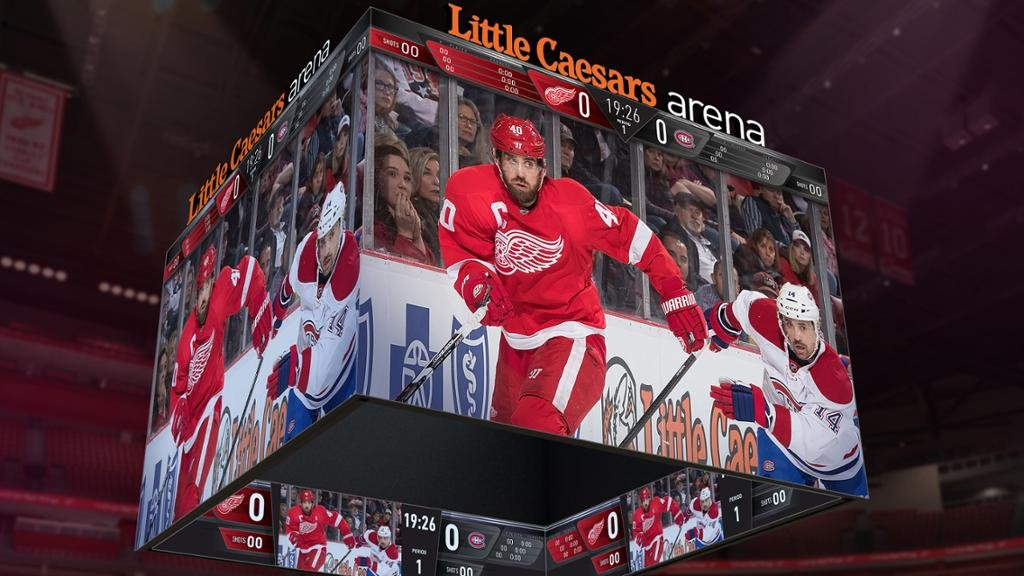Little Caesars Arena scores with world's largest seamless scoreboard system