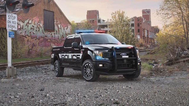 Video: Ford reveals first-ever F-150 police truck