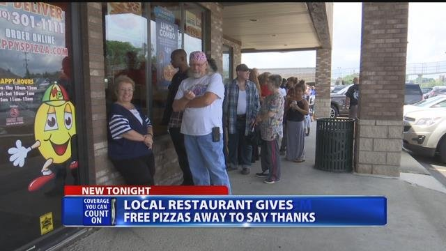 Happy's Pizza in Burton gives away 350 personal pizzas