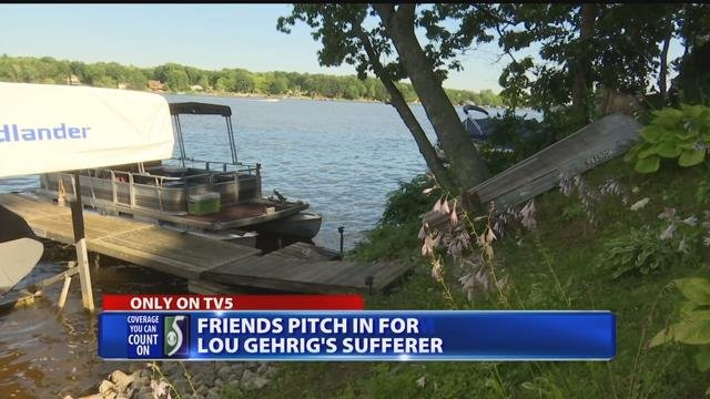 Video: Neighbors come together to help man with ALS enjoy summer