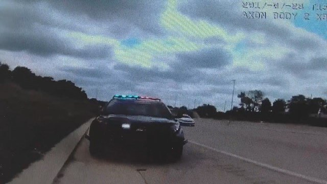 Video: Dash cam shows deadly crash that hurt officer