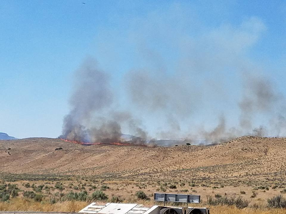 Michigan DNR firefighters join crews fighting wildfires across the country, including this grass and brush blaze in Nevada