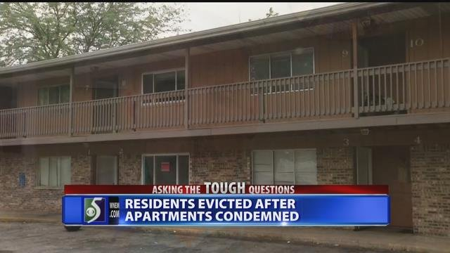 Video: Residents evicted after apartment condemned