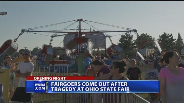 Fair goers come out after tragedy at Ohio State Fair