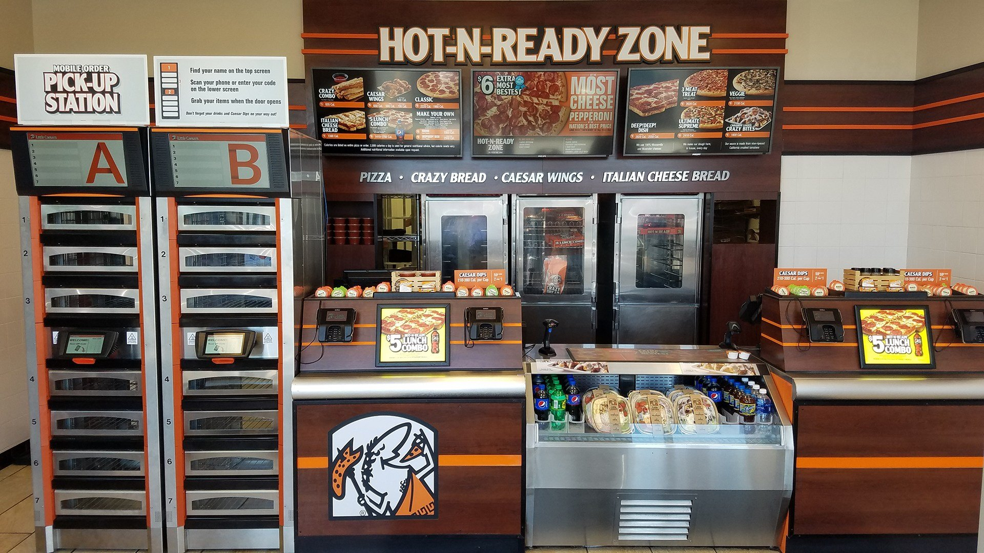 Little Caesars' Reserve-N-Ready quickens pizza pickup at Troy store