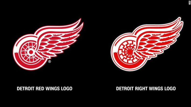 White Supremacist Group Uses Detroit Red Wings Logo at Rally