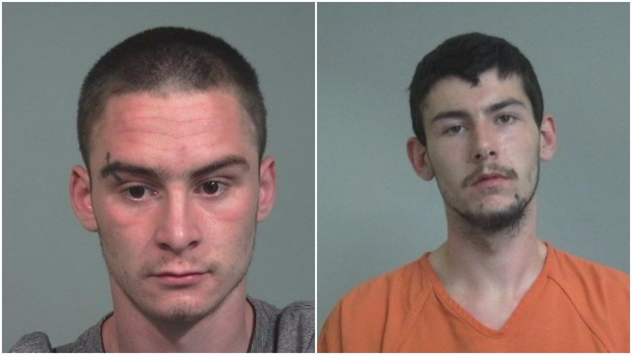 Daniel Olar (left) and Christopher Grinnell (Source: Iosco County Jail)