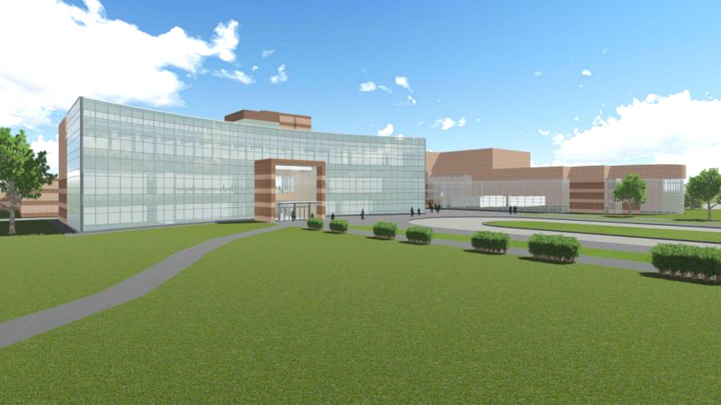 Artist rending of the building addition (Source: SVSU)
