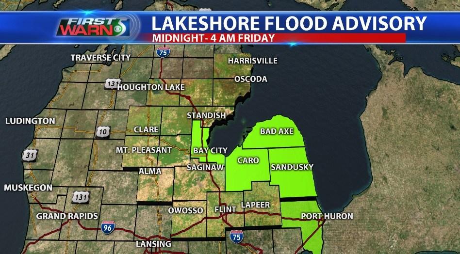 Lakeshore Flood Advisory