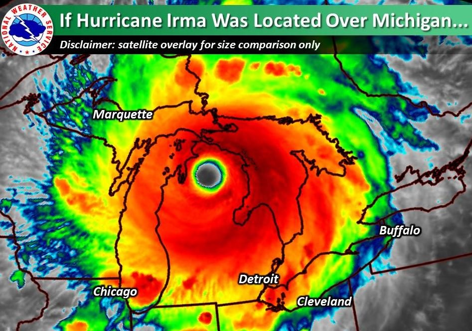 What Would Hurricane Irma Look Like Over Michigan Wnem Tv 5