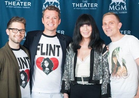 (From left to right: Dan Buccilli, David Custer, Cher, Jake Custer)