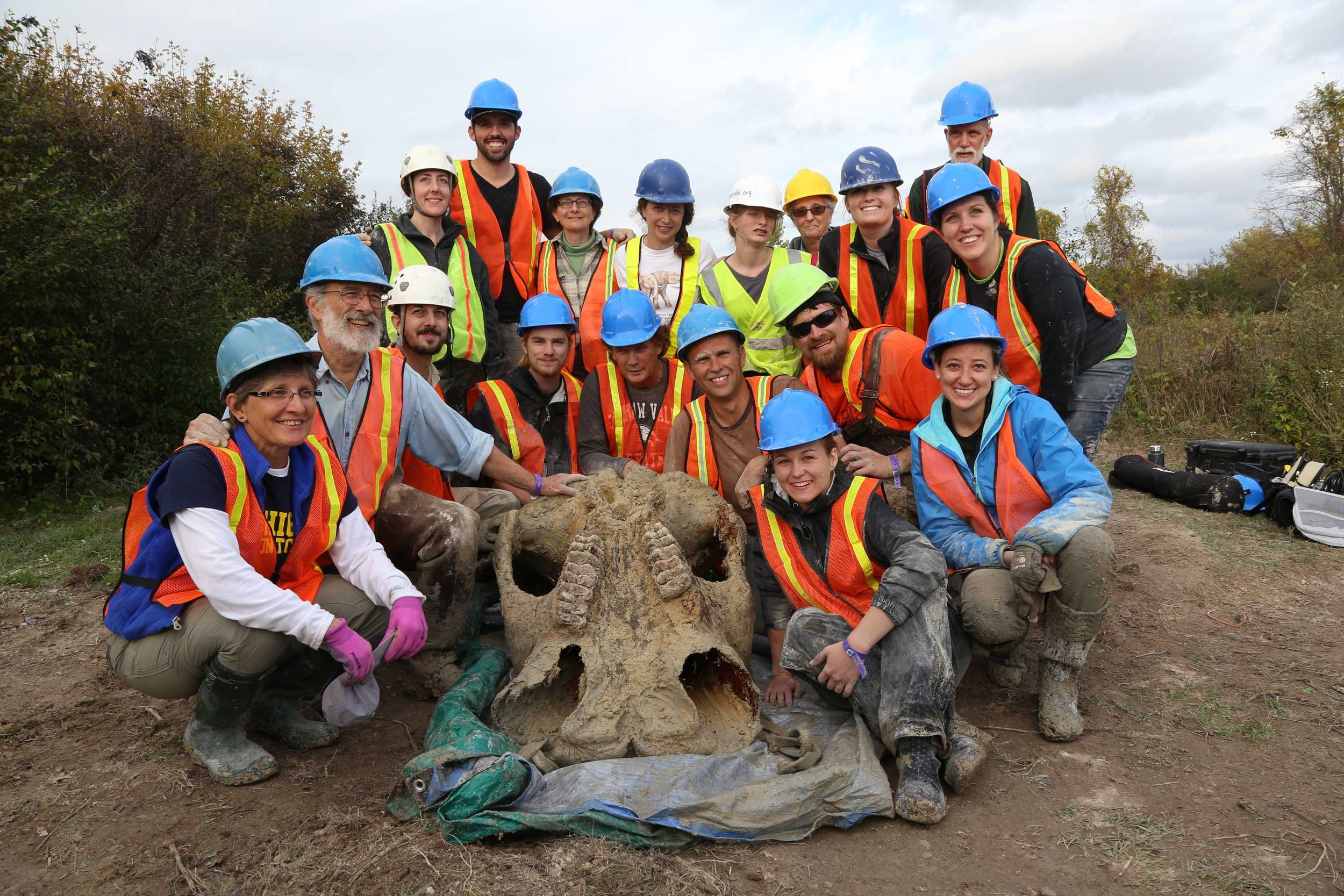 Mastodon uncovered at Fowler Center for Outdoor Learning (Source: University of Michigan)