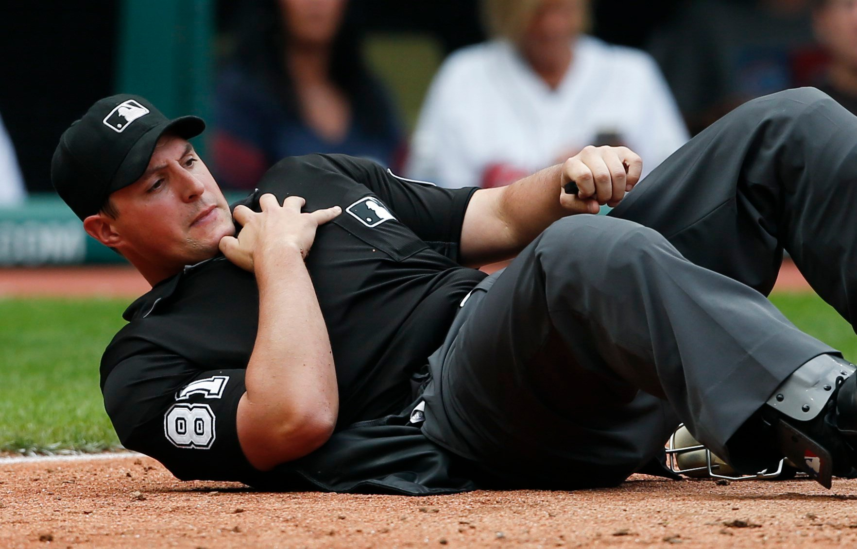 Umpire Quinn Wolcott (Source: Associated Press. Sept. 14, 2017)