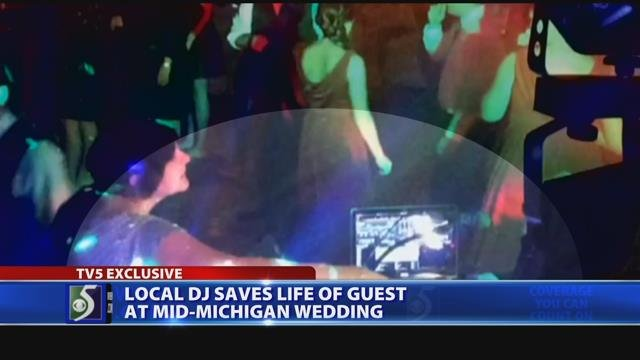 Video exclusive: Local DJ helps save wedding guest