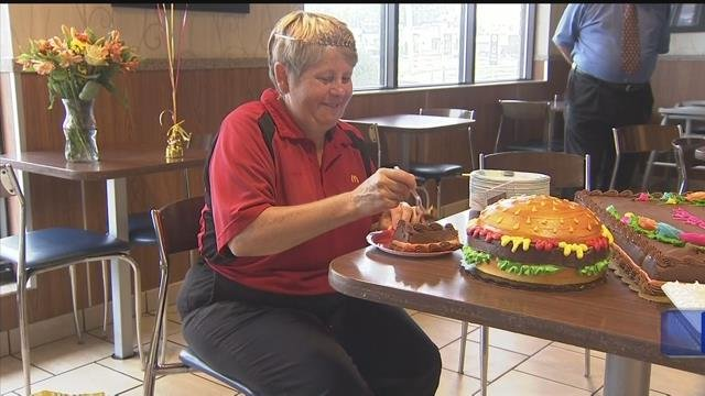 Video: McDonald's employee honored for four decades of service
