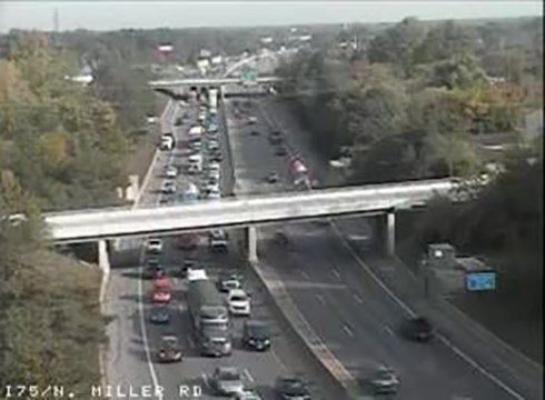 Image of I-75 at Miller Road (Source: MiDrive)