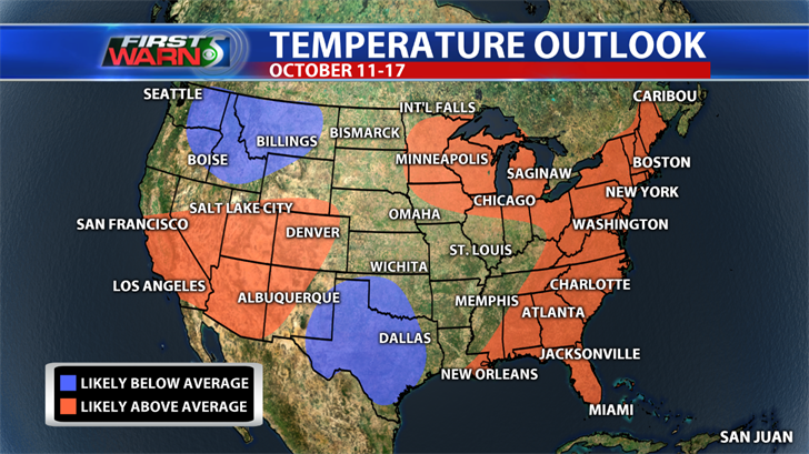 Temperature Outlook for October 11-17, Climate Prediction Center