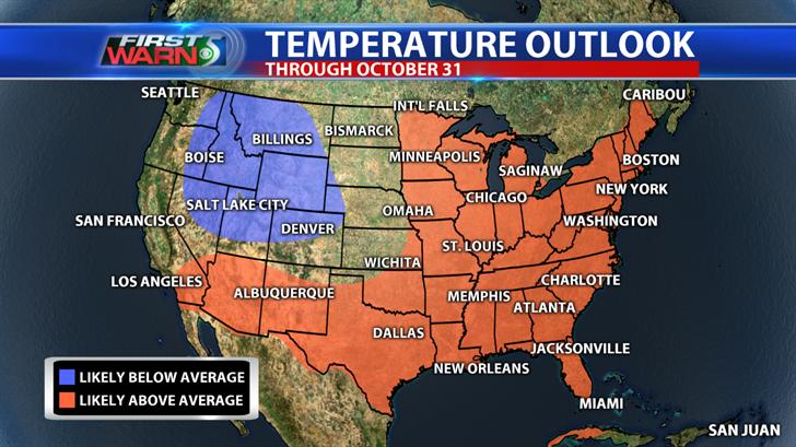 Temperature Outlook through October 31, Climate Prediction Center