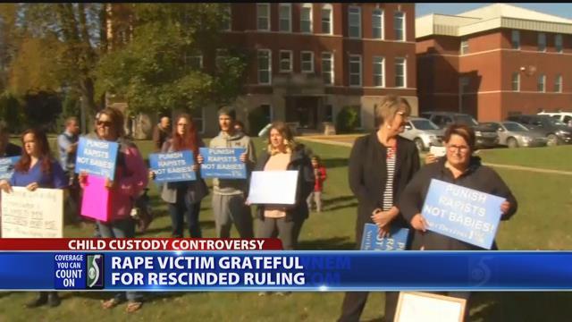 Rape victim grateful for rescinded ruling