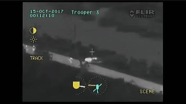Video: MSP helicopter spots disabled vehicle, woman suffering stroke