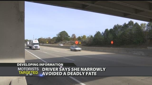 Driver says she narrowly avoided a deadly fate