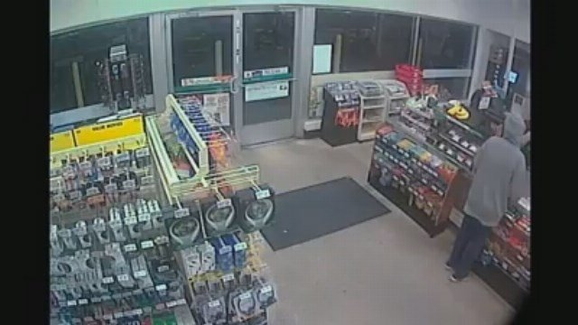 Video: Police investigate armed robbery at Bay City 7-Eleven