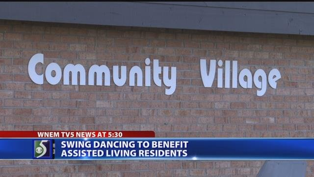 Video: Volunteer hosts swing dance fundraiser for assisted living facility