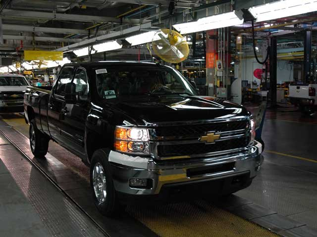 First truck rolling off the line.