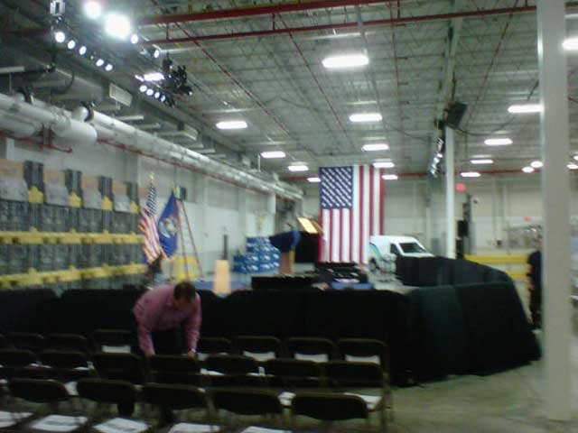 Where the president will deliver his speech. Photo/Jeff Jenkins