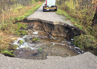 A 3/4-mile section of the North Central State Trail, located in Corwith Township in Otsego County, temporarily has been closed between Summit and Badgley roads, due to a washout (Source: DNR)