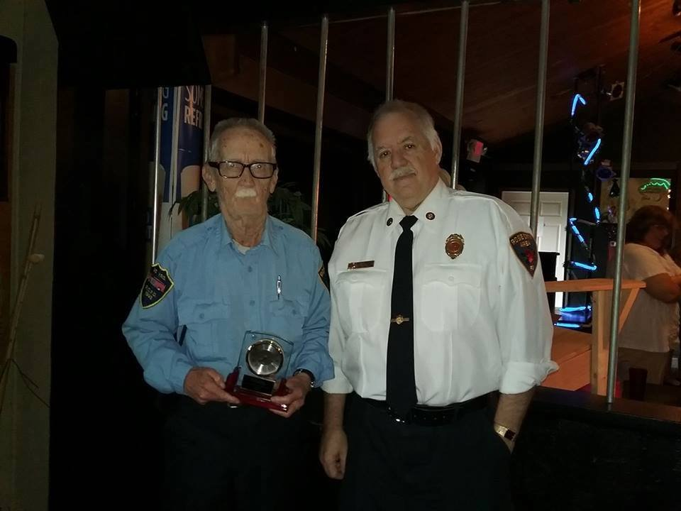 Les Wiley (left) (Source: Rose City Area Fire Department)