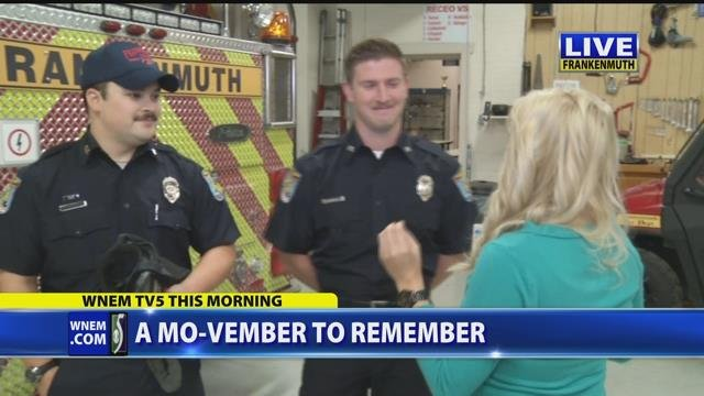 Video: Firefighters participate in No-Shave November