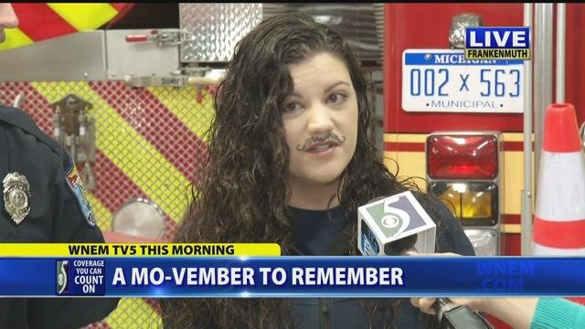 Video: Female firefighter participates in 'No-Shave November' campaign