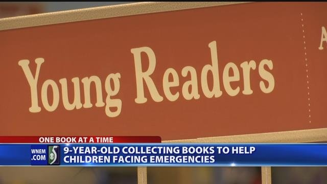 Video: Girl collects books for kids in emergency situations