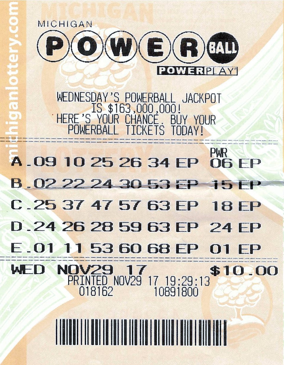 (Source: Michigan Lottery)