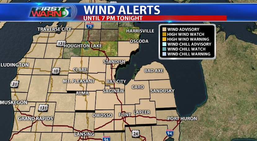 Wind advisory for northern counties extended
