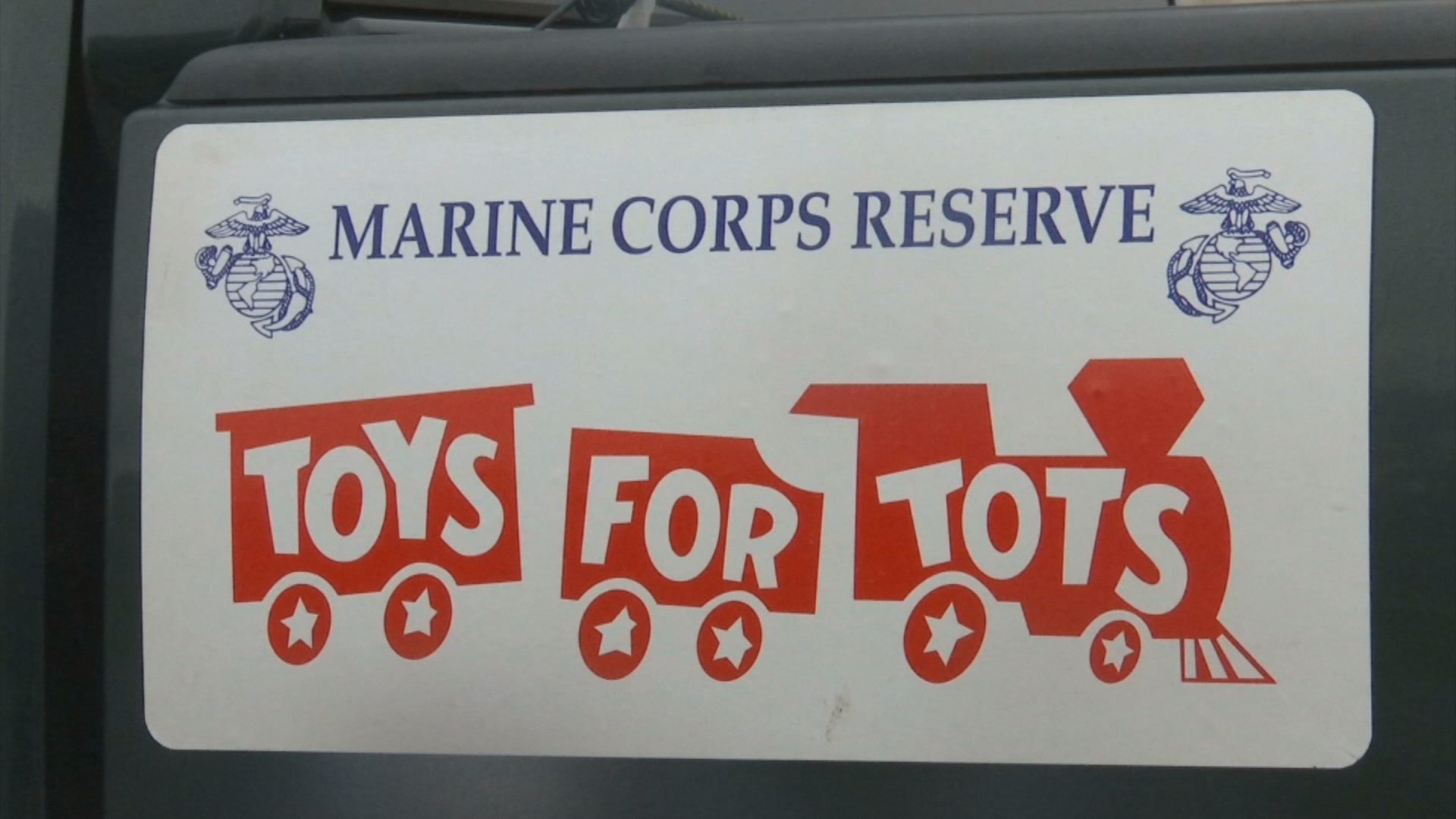 Crowds greet Toys for Tots train