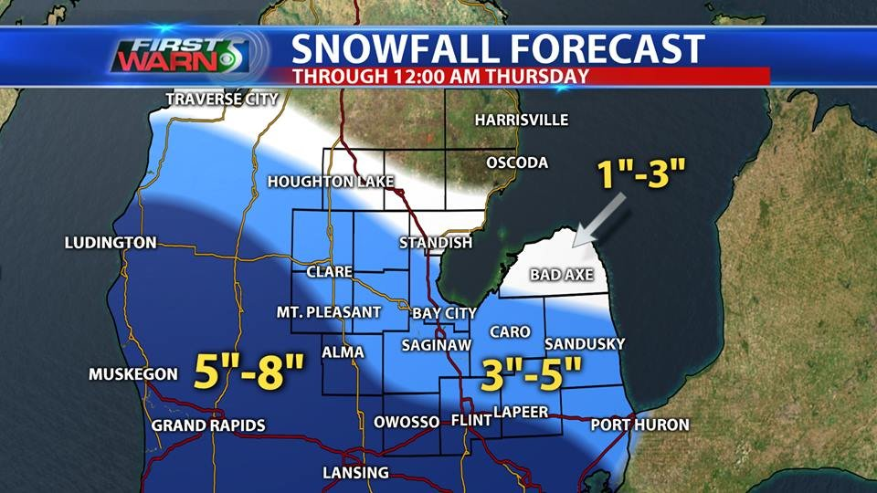 Winter storm could dump more than half-foot of snow in Flint