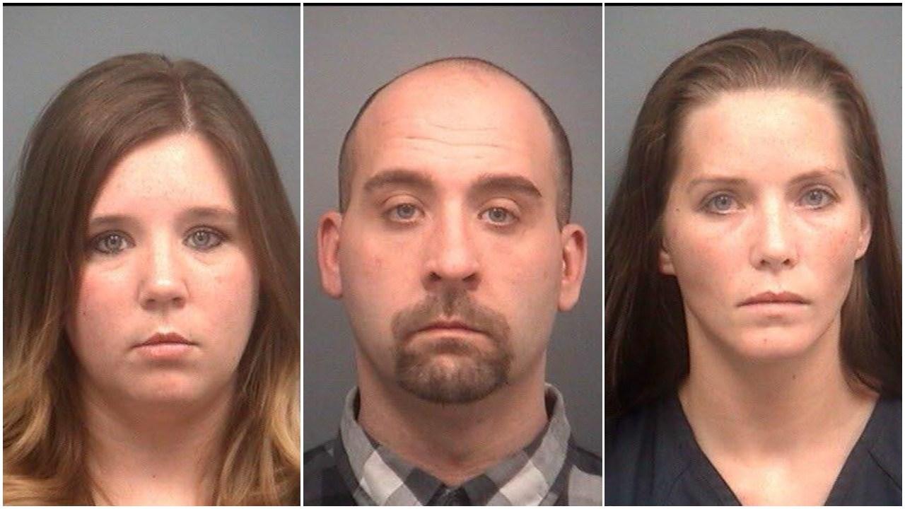 Left to right: Amanda Blain, Jason Blain, Michelle Voories (Source: Clare County Sheriff)