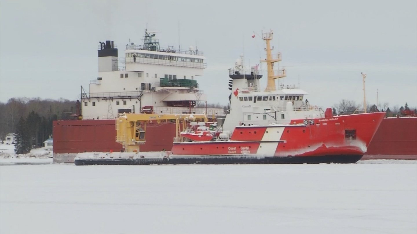 Two vessels beset by ice in St. Marys River