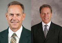 Mark Dantonio (left) and Tom Izzo (right)
